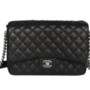 Chanel Caviar Medium Quilted Rock In Rome Bag